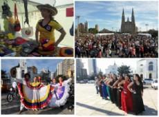 Plaza Moreno disfrut� las representaciones t�picas colombianas en su primera celebraci�n de la colectividad en la municipalidad de La Plata
