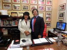 Gloria del Paraguay con ganas de seguir trabajando por la cultura del pa�s.